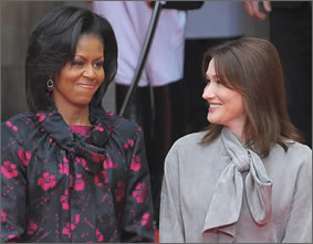 michelle obama and carla bruni