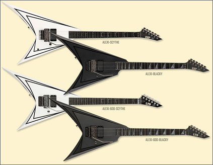 ESP Alexi Laiho Children of Bodom series guitars