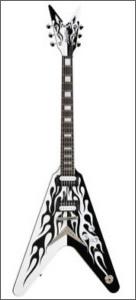 Dean Michael Schenker Flame V Guitar