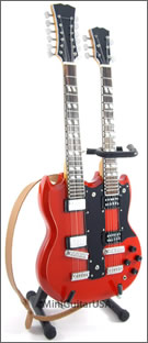 immy Page model double neck guitar